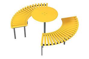 Скамейка Солнце со столиком Kidigo (VMVL011)