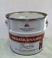 Грунт-эмаль  антикоррозионная 3 в 1  Primer – Enamel Premium Днепр-Контакт 2,8 кг