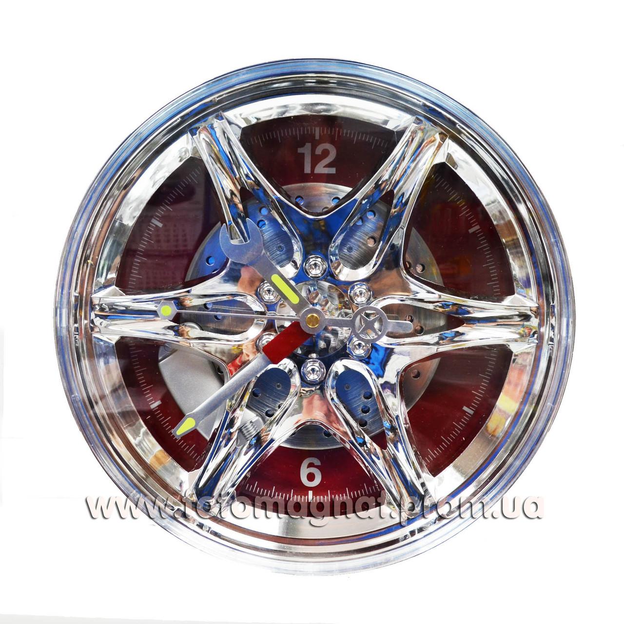 Часы-шина.(Красные) 28х28 см.