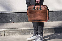 Сумка из натуральной кожи ручная работа Boorbon 628 деловой кейс портфель для документов брифкейс винтаж