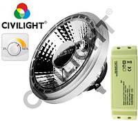 Светодиодная лампа 220-240V, 25W,1055Lm, 2700K, 24гр dimmable,