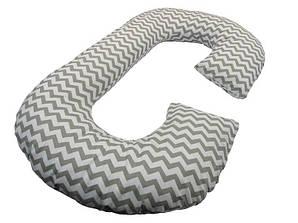Подушка для беременных KIDIGO Рогалик  Зигзаг (с наволочкой)