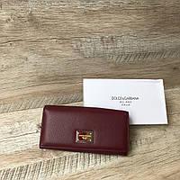 Кожаный женский кошелек Dolce & Gabbana, фото 1