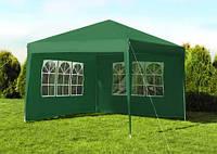Садовый павильон 3x3м зеленый 4 стенки Палатка Павильон Шатер 3х3
