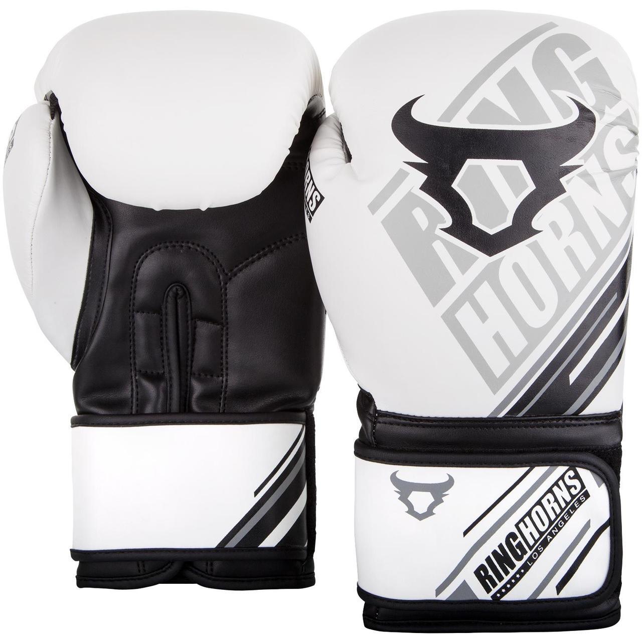 Боксерские перчатки Ringhorns Nitro Белые с черным