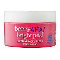 Ночная Маска-Пилинг Etude House Berry AHA Bright Peel Sleeping Pack 100мл.