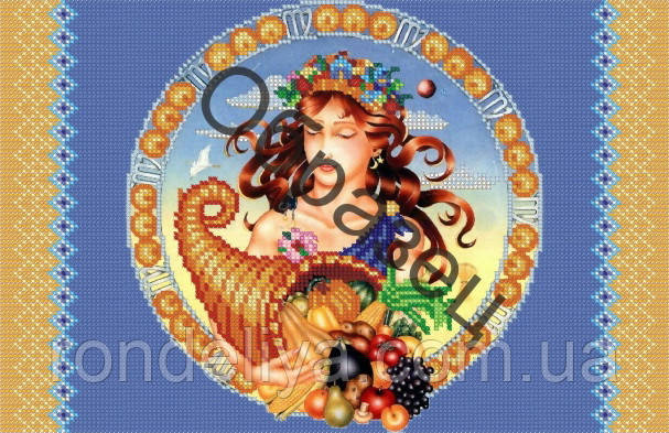 Схема для вышивки бисером « Рог плодородия»