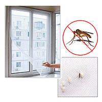 Москитная сетка на окно,150*130 с самоклеющейся лентой для крепления.
