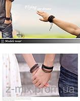 Плетеный кожаный браслет для парня или девушки