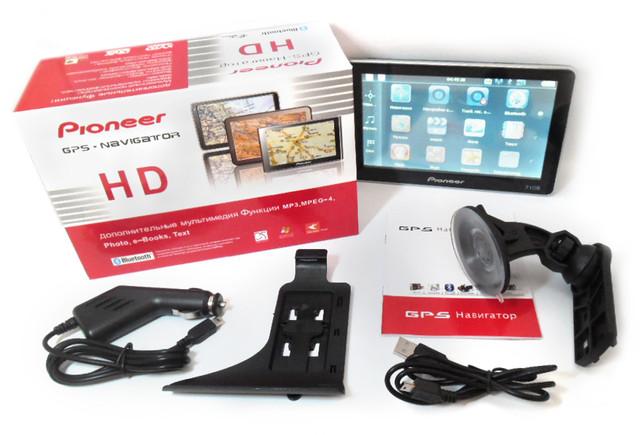Картинки по запиту Автонавігатор GPS навігатор Pioneer 7108 DVR, екран 7