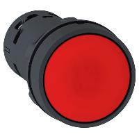 Кнопка 22 мм красная с возвратом NO+NC
