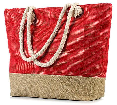 Женская пляжная сумка с канатными ручками BR-S красная (967568022), фото 2