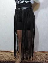 Портупея юбка бахрома макси на талию длинная от 70 см до 100 см