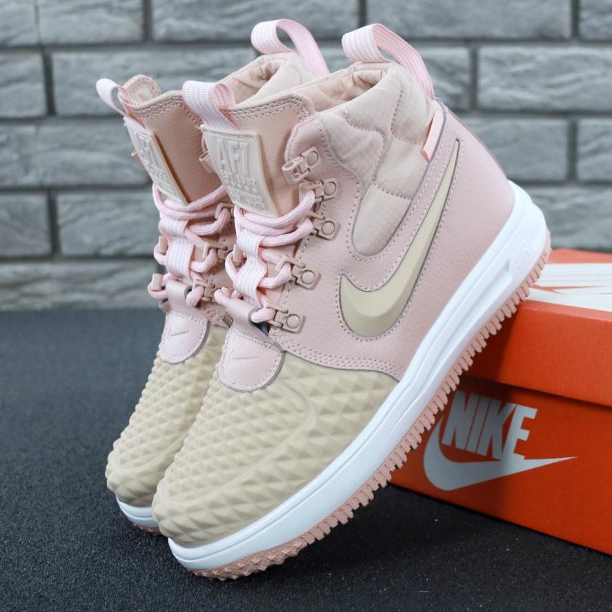 471c879c Женские кроссовки Nike Lunar Force 1 Duckboot 17 Pink, Найк Лунар Форс  розовые / Реплика