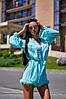 Женский комбинезон-шортами на пуговицах в расцветках. А-10-0818, фото 7