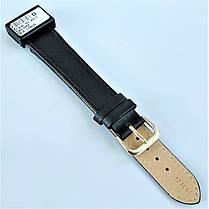 20 мм Кожаный Ремешок для часов CONDOR 123L.20.01 Черный Ремешок на часы из Натуральной кожи удлиненный, фото 3