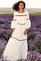 Романтичное длинное летнее платье S M L