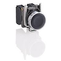 XB4BA21 Кнопка 22мм черная с возвратом 1НО Schneider Electric