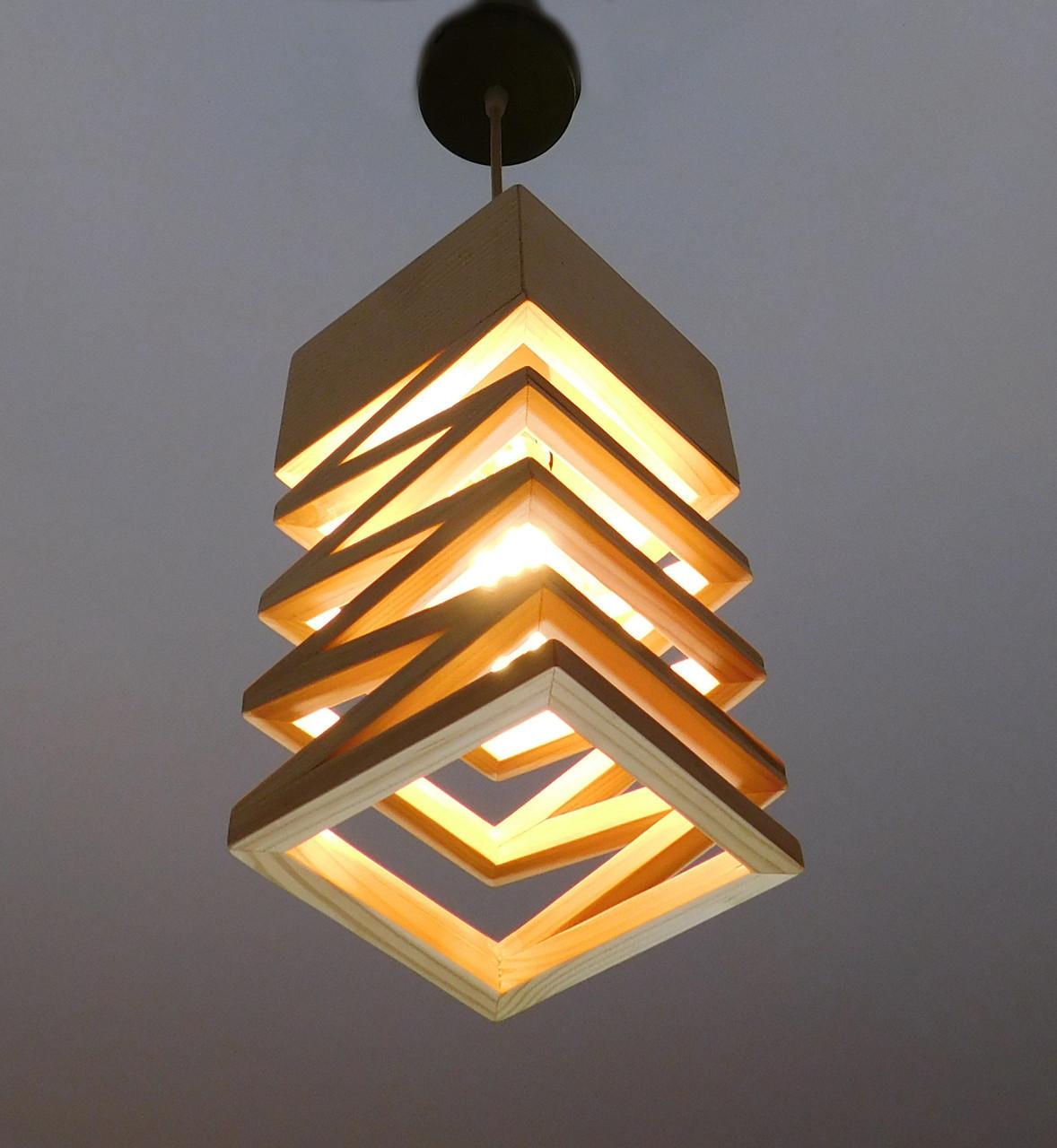 подвесной светильник из первосортного дерева текстуры дерева современный стиль натуральное дерево Loft