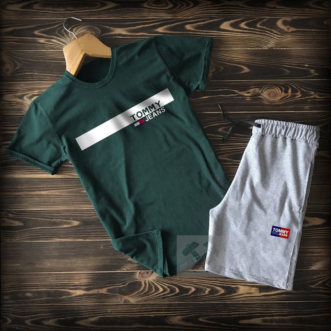 Літній костюм Tommy Hilfiger (Premium-class) зелений з сірим