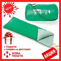 Зеленый спальный мешок 68053 SH BESTWAY в сумке   спальник для туризма   одеяло для похода