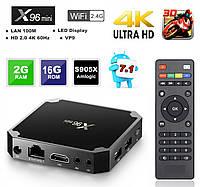 Смарт ТВ приставки X96 mini  2/16 Gb IPTV Android TV BOX 7.1.2