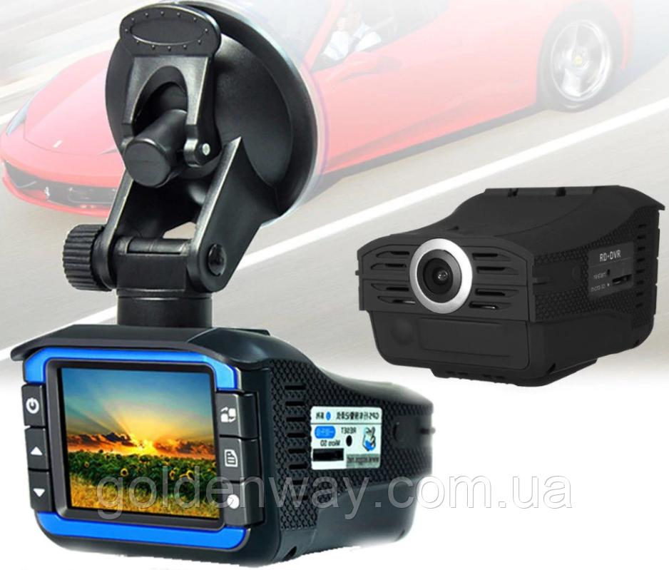 Автомобильный видеорегистратор с антирадаром DVR X7 140° Ambarella
