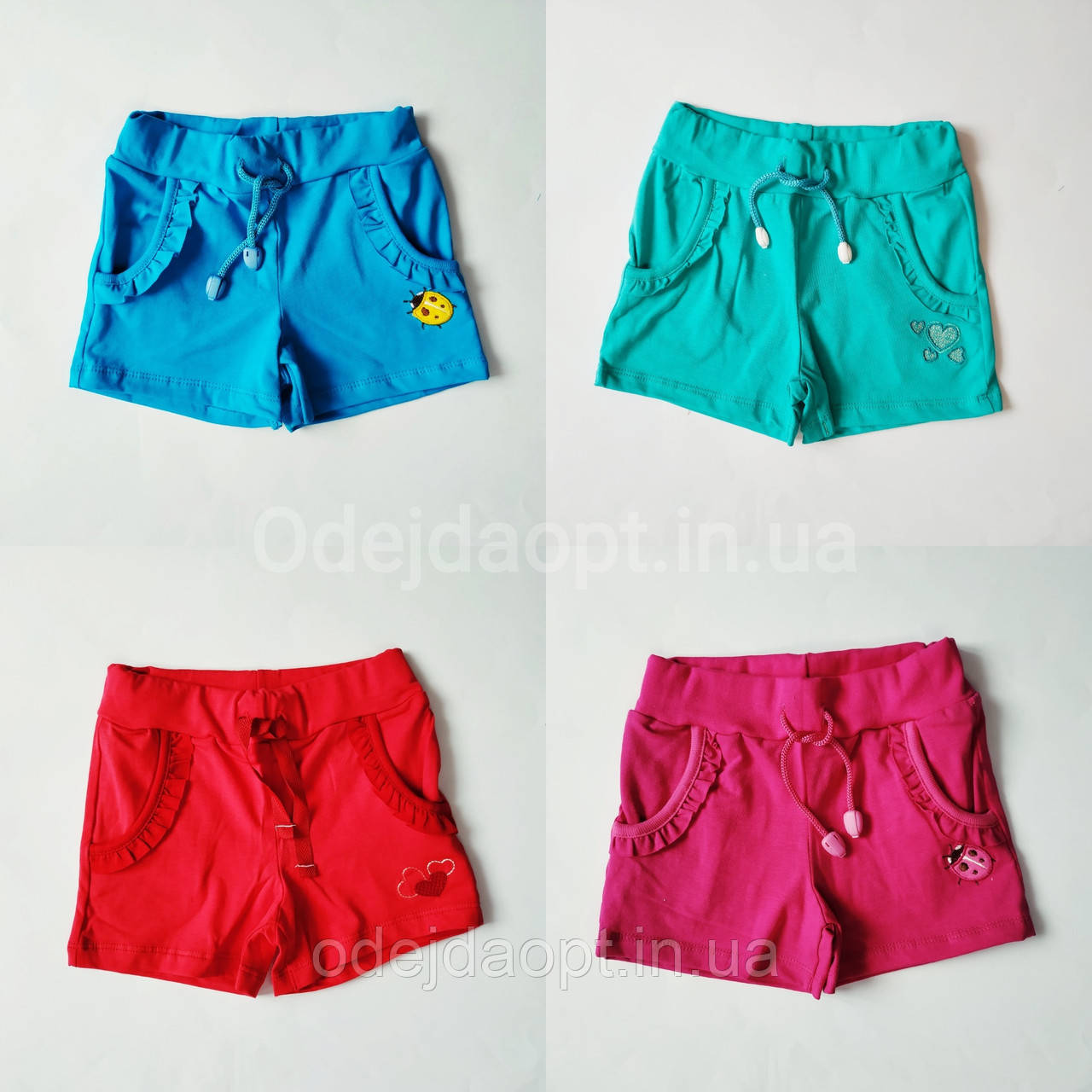 Детские шорты для девочки с карманами