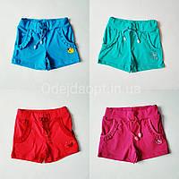 Детские (розовые,голубые,красные,ментол) шорты для девочки с карманами 1,2,3,4.5,6,7,8 лет, фото 1