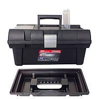 """Ящик для инструмента Haisser Stuff Semi Profi Alu 16"""" с лотками и металлическими замками"""