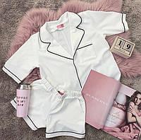 Женский костюм 2-ка пиджак+шорты №7057 (р.42-48) молоко, фото 1