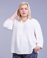 Блуза белая, вискоза, в размерах (большие размеры 56-74)