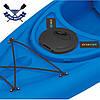 Корпусный каяк SF-1004 одноместный + весло, Sit-in, HDPE-RM, синий, 305 см, фото 8