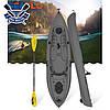 Корпусний каяк для риболовлі SF-1007 одномісний + весло, sit-on-top, HDPE-RM, сірий, 305 см, фото 2
