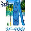 Корпусний каяк SF-4001 чотиримісний + 2 весла, sit-on-top, HDPE-RM, помаранчевий, 340 см, фото 4