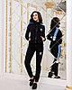 Женский спортивный костюм с лампасами:штаны и кофта на змейке с воротом стойкой, реплика Адидас, фото 9