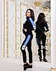 Женский спортивный костюм с лампасами:штаны и кофта на змейке с воротом стойкой, реплика Адидас, фото 10