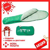 Зеленый спальный мешок 68054 SH BESTWAY в сумке   спальник для туризма   одеяло для похода