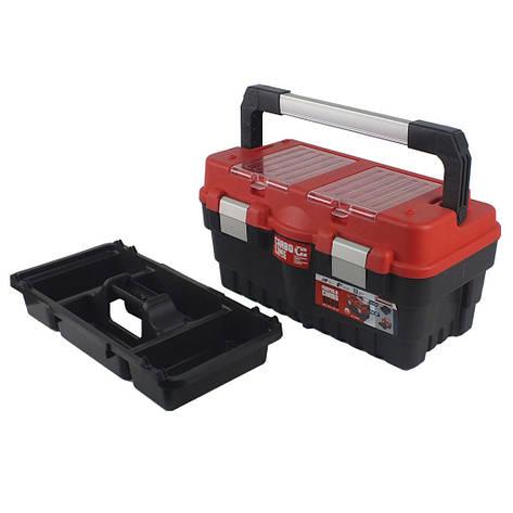 "Ящик для инструмента Haisser Formula S500 CARBO 18.5"" с лотками и металлическими замками, фото 2"