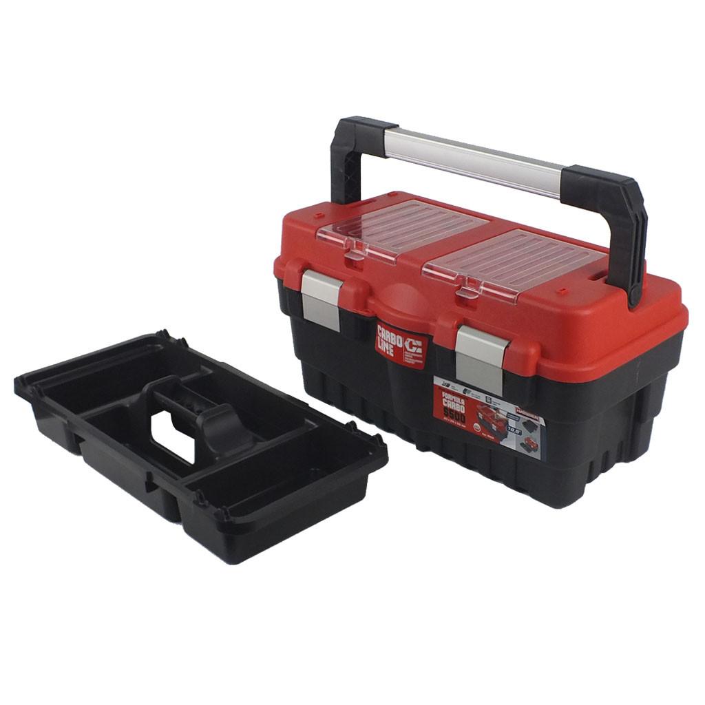 """Ящик для инструмента Haisser Formula S500 CARBO 18.5"""" с лотками и металлическими замками"""