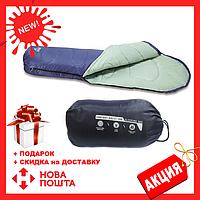 Синий спальный мешок 68054 SH BESTWAY в сумке   спальник для туризма   одеяло для похода