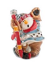 """Фарфоровый подсвечник """"Снеговик-хоккеист"""" (Pavone)"""