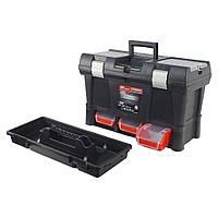 """Ящик для инструмента Haisser Stuff Module System Semi Profi Alu 20"""" с лотками и металлическими замками"""