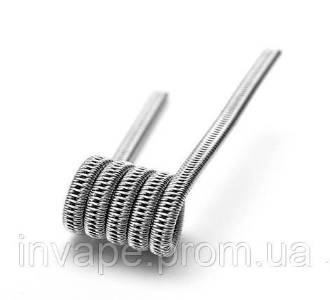 Готовая спираль Staggered fused clapton (нихром), фото 2