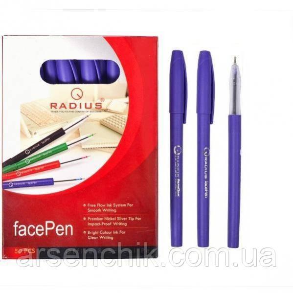 """Ручка масляная RADIUS """"Face Pen"""" фиолетовая"""