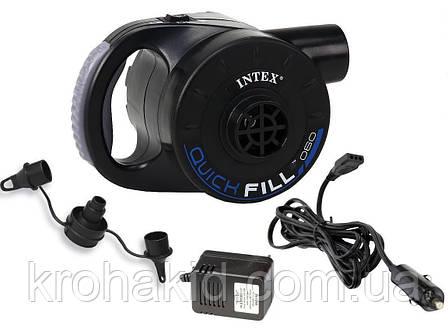 Насос электрический с аккумулятором Intex 66622 - для матраса, кровати, лодки, бассейна, фото 2