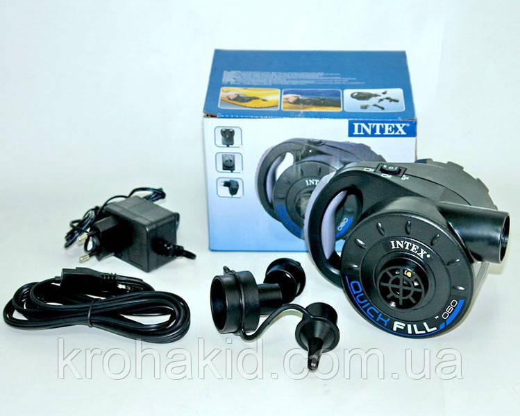 Насос электрический с аккумулятором Intex 66622 - для матраса, кровати, лодки, бассейна