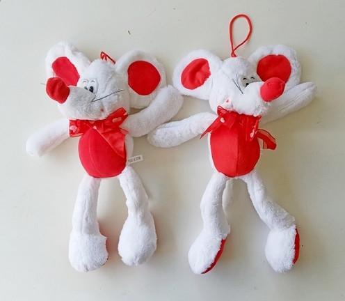 Мягкая игрушка Мышка 36см висюлька