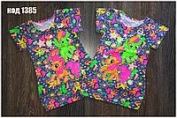 Детская туника-платье пони для девочки с боковыми карманчиками