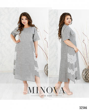 Платье льняное длинное летнее размер 54,56,58,60,62,64, фото 2